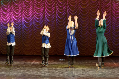 collectives: The Jewish dance. Festival of childrens dancing collectives, Russia, St.-Petersburg