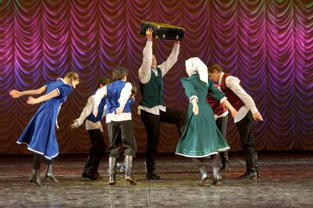 The Jewish dance. Festival of children Stock Photo - 12339447