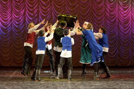 choregraphy: The Jewish dance. Festival of children
