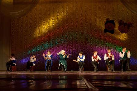 choreographic: Jewish dance performed by children s dance group, St  Petersburg, Russia