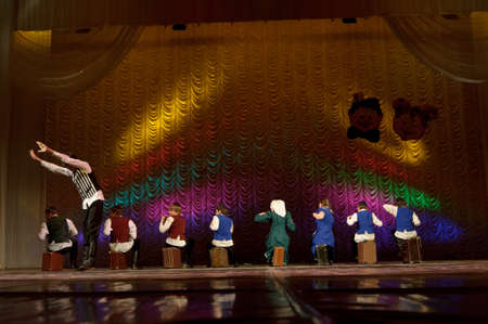 choregraphy: Jewish dance performed by children s dance group, St  Petersburg, Russia