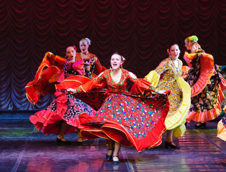Gypsy dance, childrens dance performance team, St. Peterbuog, Russia Editorial