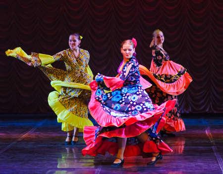 paso doble: Gypsy dance, childrens dance performance team, St. Peterbuog, Russia Editorial