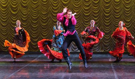 cha: Gypsy dance, childrens dance performance team, St. Peterbuog, Russia Editorial