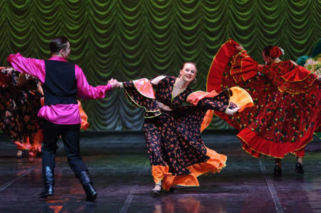 rafael aguilar: Gypsy dance, childrens dance performance team, St. Peterbuog, Russia Editorial
