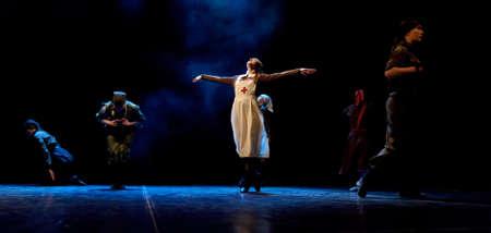 fanatical: Children s dance ensemble, Dance Lenin so young in the spirit of Soviet Socialist Revolution, St  Petersburg, Russia  Editorial