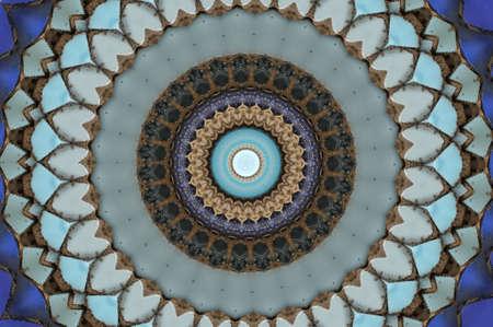 cupola: colored mosaic Stock Photo