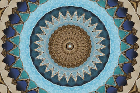 uzbekistan: colored mosaic Stock Photo