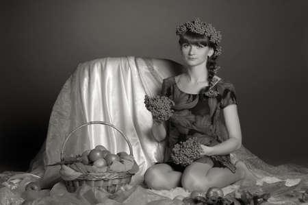Retro Autumn portrait in studio Stock Photo - 12508153