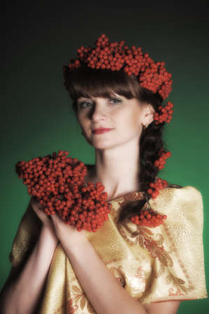 Autumn portrait in studio Stock Photo - 12443009