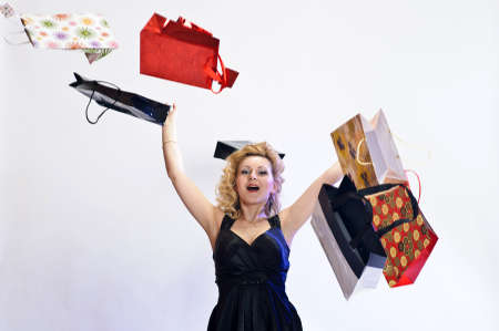Woman with shopping bags photo