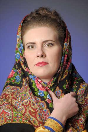 sudarium: traditional Russian rural woman