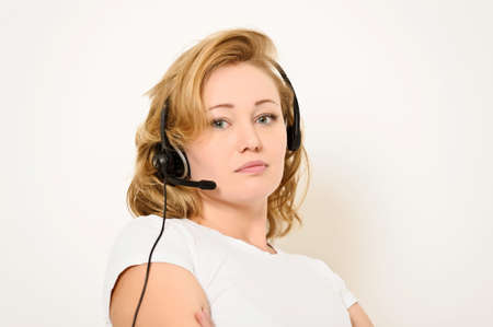 Woman with a Headset photo