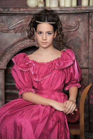 Young victorian lady Stock Photo - 12443083