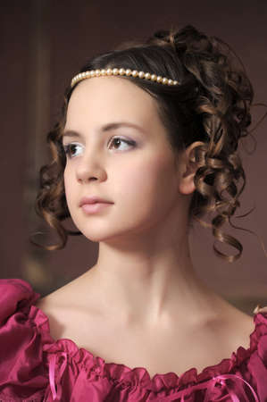 Young victorian lady Stock Photo - 12443073