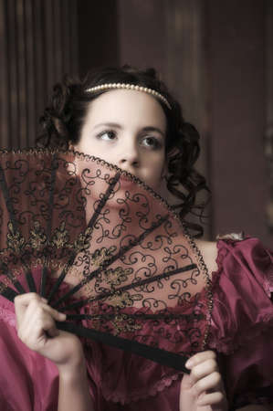 traditional dress: Young victorian lady