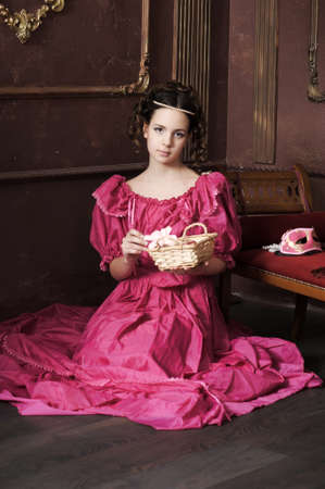 Young victorian lady  Stock Photo - 12443086