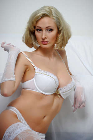 Lovely blond model in lingerie Stock Photo - 13255946