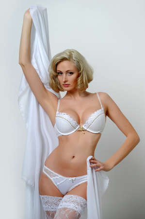 Lovely blond model in lingerie Stock Photo - 13255908