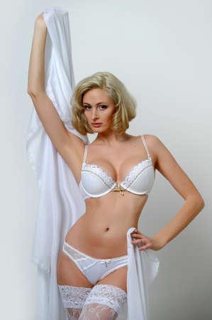 Lovely blond model in lingerie Stock Photo - 13255908