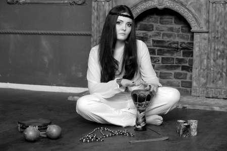 Hippie style portrait of beautiful girl Stock Photo - 13730113
