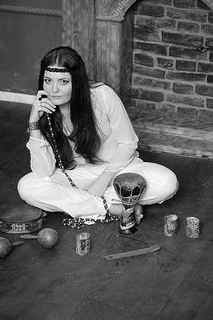 Hippie style portrait of beautiful girl Stock Photo - 13730156