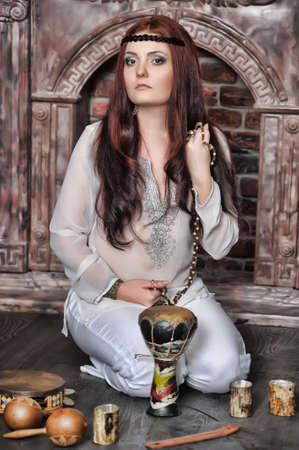 Hippie style portrait of beautiful girl Stock Photo - 13730115