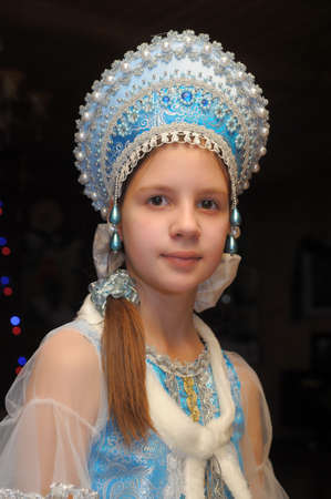Portrait of a smiling snow maiden photo