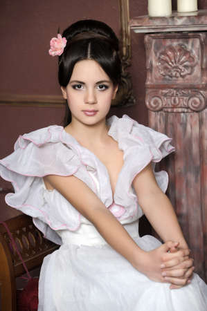 Young victorian lady  Stock Photo - 13040426