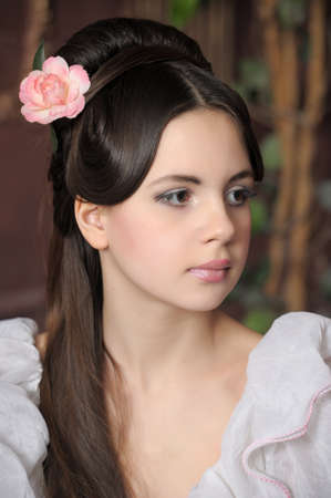sexy umbrella: Young victorian lady