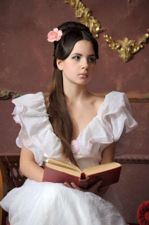 Young victorian lady Stock Photo - 13040421