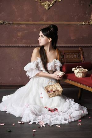 Young victorian lady  Stock Photo - 13040425