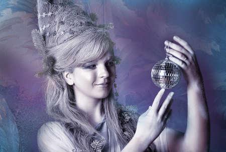 Winter Girl with beautiful make up photo