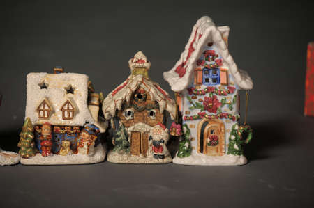 Christmas porcelain lodges  photo