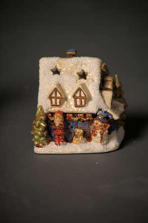 Ceramic Christmas small house photo