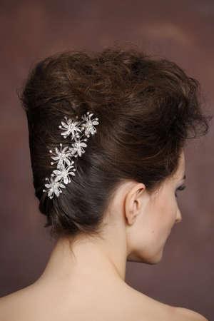 fashionable wedding hairdress photo
