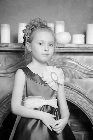 Little Girl Looks Like A Small Princess  photo