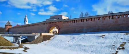 Panorama of Novgorod Kremlin and Volkhov  Stock Photo - 13013170
