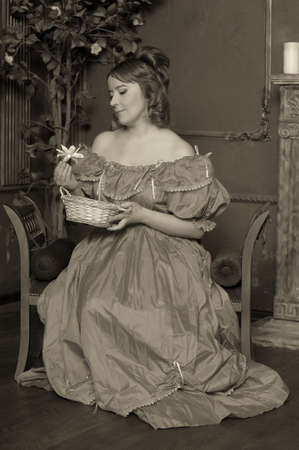 tree dweller: the lady of the Victorian era Stock Photo