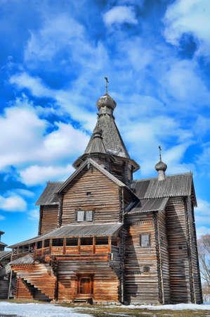 Wooden historic house in Veliky Novgorod, Russia Stock Photo - 13118763