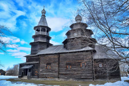 Wooden historic house in Veliky Novgorod, Russia Stock Photo - 13118727