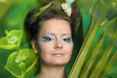 Beautiful woman with gorgeous makeup Stock Photo - 13085652