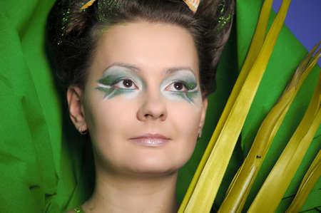 Beautiful woman with gorgeous makeup Stock Photo - 13085659