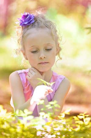 Little girl in the park Stock Photo - 13255007