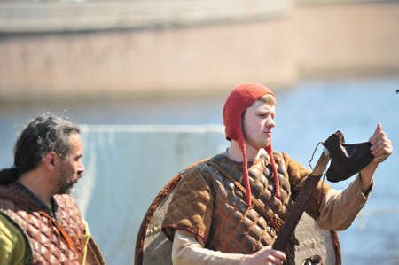 festival Legend of the Norwegian Vikings in the Peter and Paul Fortress territory in St. Petersburg