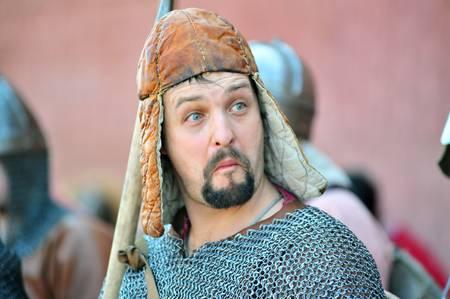 """festival de """"Legend of the Vikings norvégiens"""" dans la forteresse Pierre et Paul territoire à Saint-Pétersbourg Banque d'images - 13337401"""