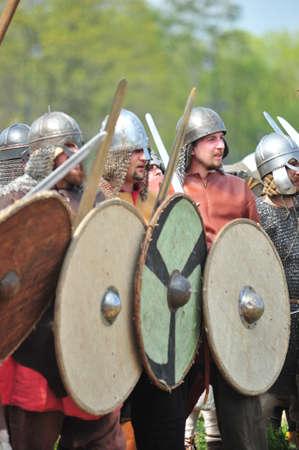 Vikings: festival Legend of the Norwegian Vikings in the Peter and Paul Fortress territory in St. Petersburg