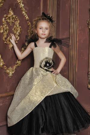little girl in a retro dress photo
