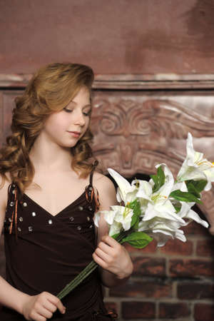 girl with lily Stock Photo - 13562228