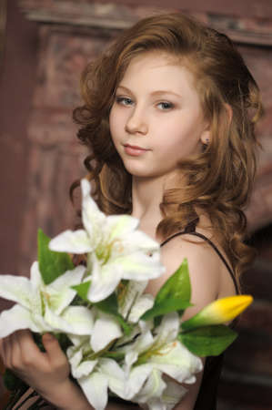girl with lily photo